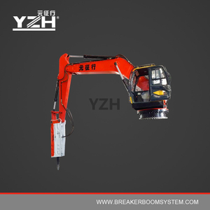 Portable Robotic Rock Breaker Booms System