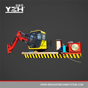 Static Type Pedestal Boom System Mounted Rock Breaker